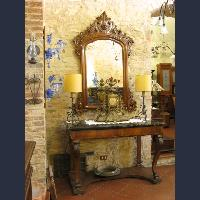Antique hall mirrors