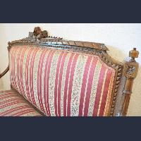 Old sofa and armchairs
