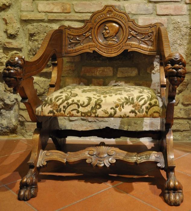 Poltrona savonarola negozio antiquariato a san gimignano - Savonarola sedia ...