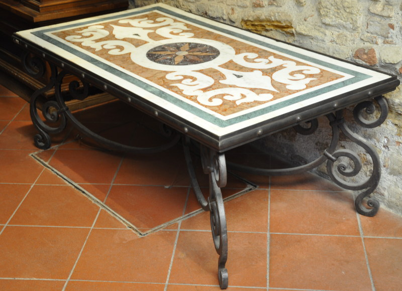 Old mosaic table