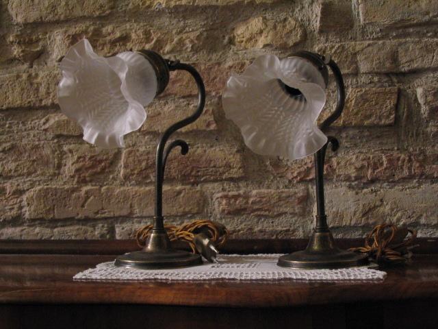 Lampada liberty - negozio antiquariato a San Gimignano